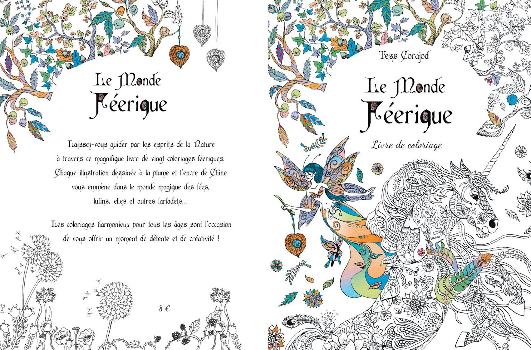 « Le Monde Féerique » (livre de coloriage)